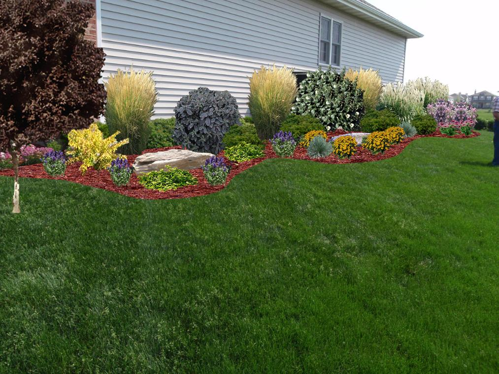 Landscaping designs side of house pdf for House landscape